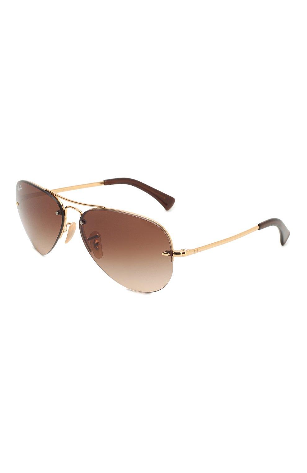 Женские солнцезащитные очки RAY-BAN коричневого цвета, арт. 3449-001/13 | Фото 1