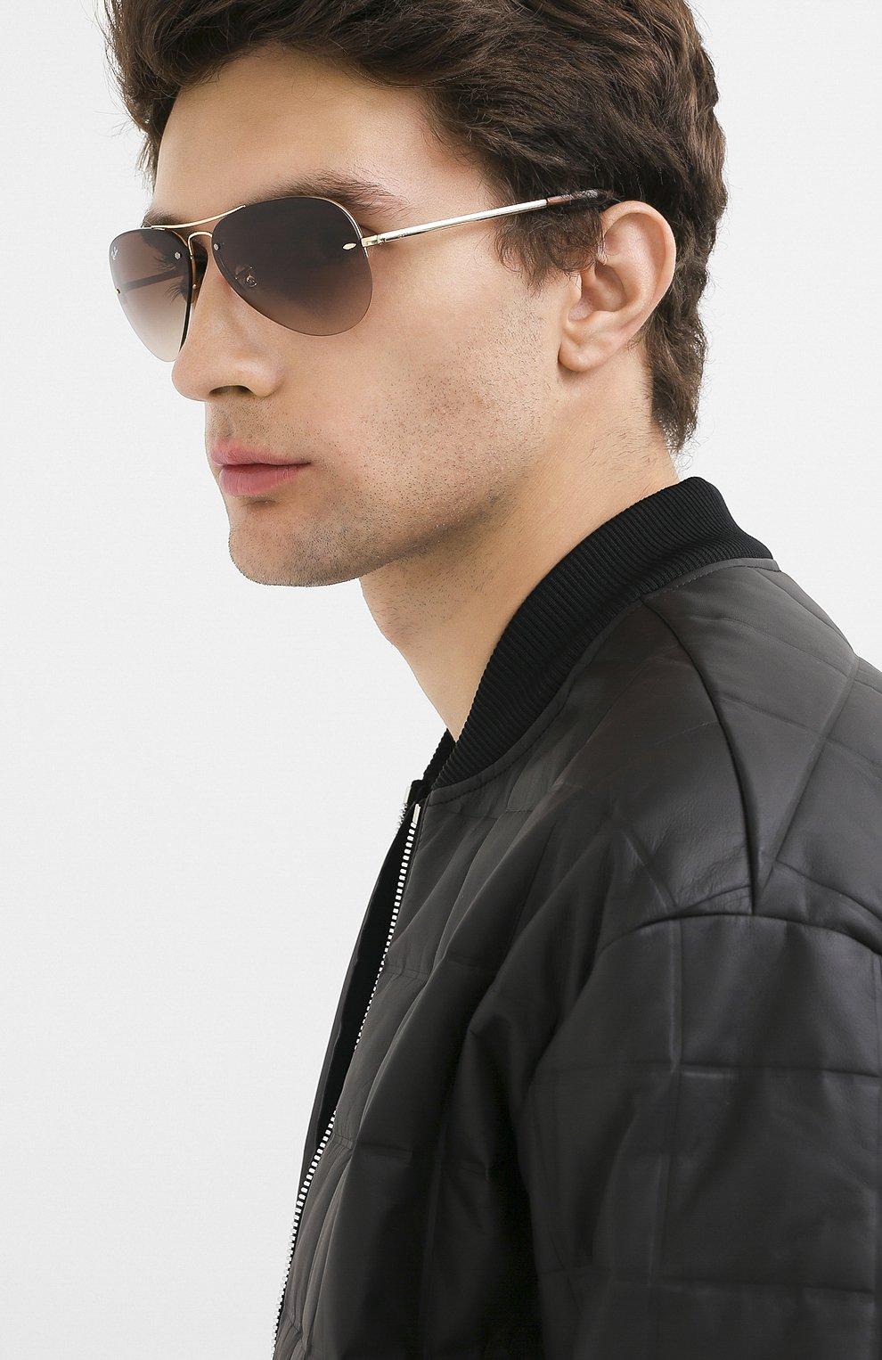 Женские солнцезащитные очки RAY-BAN коричневого цвета, арт. 3449-001/13 | Фото 3