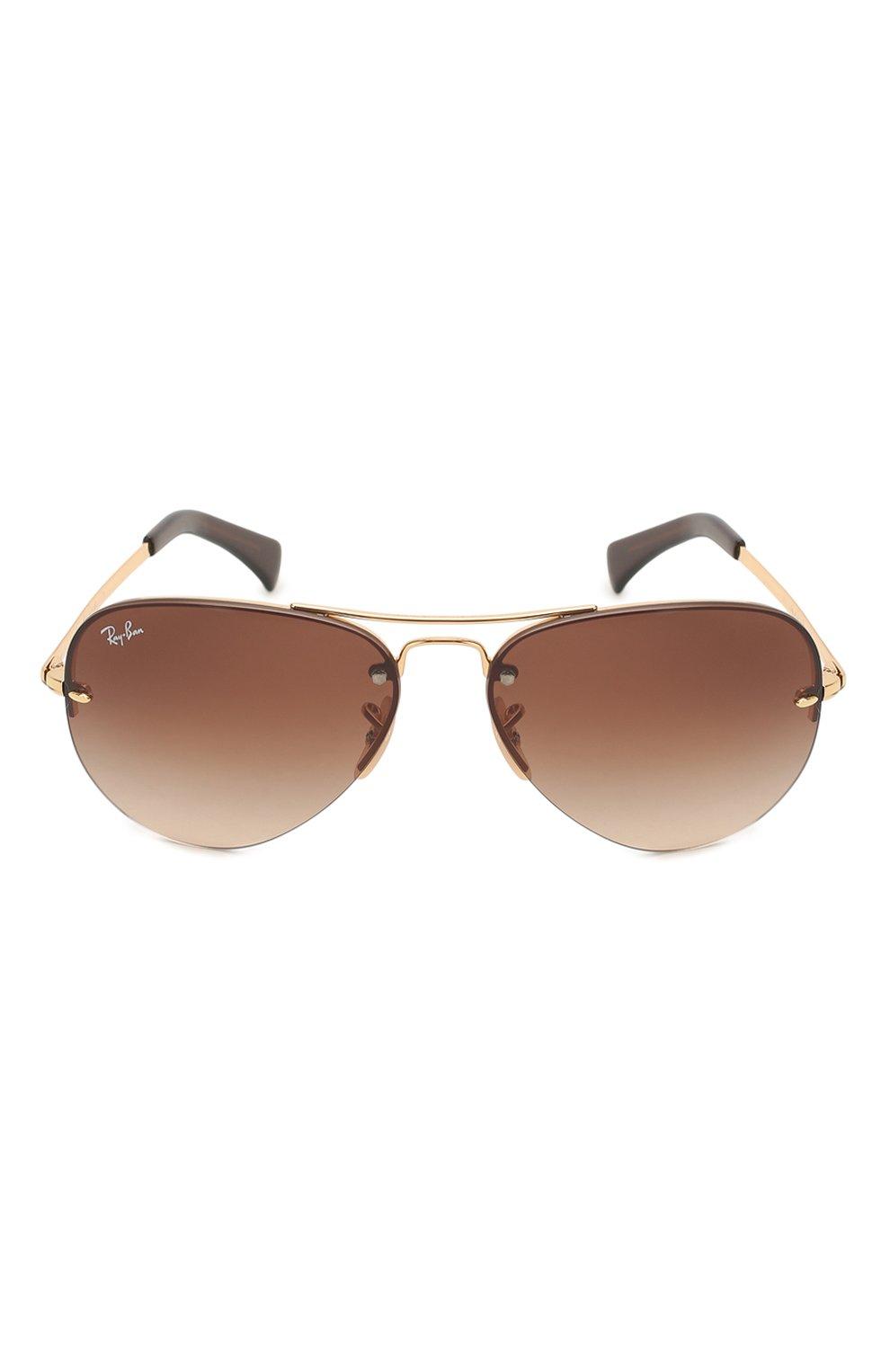Женские солнцезащитные очки RAY-BAN коричневого цвета, арт. 3449-001/13 | Фото 4