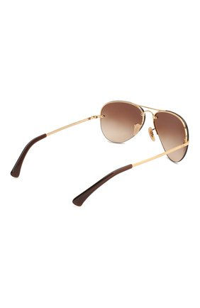 Женские солнцезащитные очки RAY-BAN коричневого цвета, арт. 3449-001/13 | Фото 5