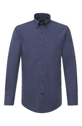 Мужская хлопковая сорочка PAUL&SHARK темно-синего цвета, арт. I20P3087 | Фото 1
