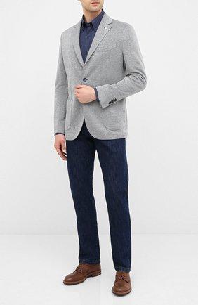 Мужская хлопковая сорочка PAUL&SHARK темно-синего цвета, арт. I20P3087 | Фото 2