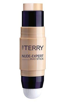 Женское тональный крем-хайлайтер nude-expert duo stick, 2,5 nude light BY TERRY бесцветного цвета, арт. V18112025 | Фото 1