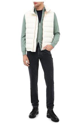 Мужская кашемировый кардиган BRUNELLO CUCINELLI светло-зеленого цвета, арт. M2200106 | Фото 2
