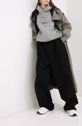 Женская хлопковое худи VETEMENTS серого цвета, арт. UAH21TR630 1601/W | Фото 2
