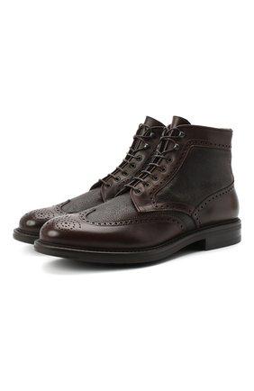 Мужские кожаные ботинки W.GIBBS темно-коричневого цвета, арт. 3169011/1514 | Фото 1
