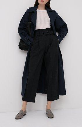 Женские шерстяные брюки BRUNELLO CUCINELLI темно-серого цвета, арт. MP160P7382   Фото 2