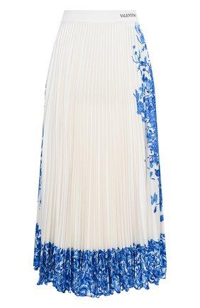 Женская юбка VALENTINO белого цвета, арт. UB3MD01X5QH | Фото 1