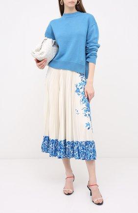 Женская юбка VALENTINO белого цвета, арт. UB3MD01X5QH | Фото 2