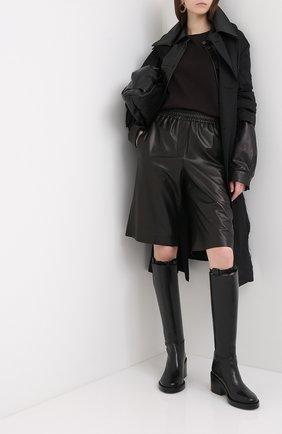 Женская хлопковый лонгслив BOTTEGA VENETA темно-коричневого цвета, арт. 636866/VF1U0 | Фото 2