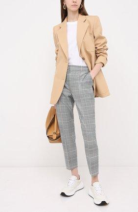 Женские брюки из шерсти и вискозы ESCADA серого цвета, арт. 5033602 | Фото 2