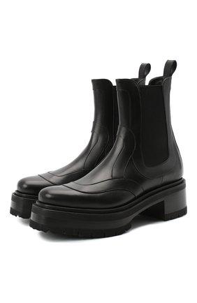 Женские кожаные ботинки elton PIERRE HARDY черного цвета, арт. UE01/CALF | Фото 1