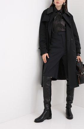 Женские комбинированные ботфорты STUART WEITZMAN черного цвета, арт. S3999 | Фото 2