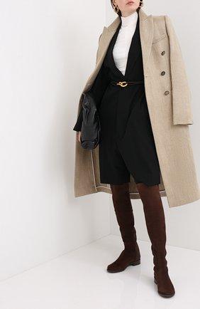 Женские замшевые ботфорты STUART WEITZMAN темно-коричневого цвета, арт. S4465 | Фото 2