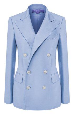 Женский кашемировый жакет RALPH LAUREN голубого цвета, арт. 290625543 | Фото 1