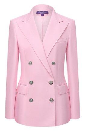 Женский кашемировый жакет RALPH LAUREN розового цвета, арт. 290625543 | Фото 1