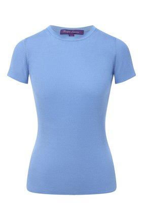 Женская шелковая футболка RALPH LAUREN синего цвета, арт. 290710199 | Фото 1