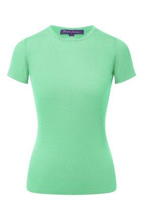 Женская шелковая футболка RALPH LAUREN зеленого цвета, арт. 290710199 | Фото 1