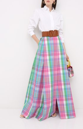 Женская хлопковая юбка RALPH LAUREN разноцветного цвета, арт. 290798140 | Фото 2