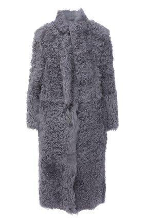 Женская дубленка из овчины REDVALENTINO серого цвета, арт. UR3FA00J/588 | Фото 1
