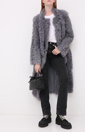 Женская дубленка из овчины REDVALENTINO серого цвета, арт. UR3FA00J/588 | Фото 2