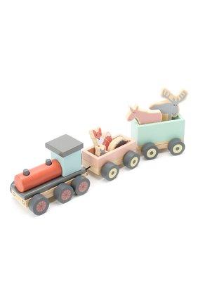 Детского игрушечный поезд с животными KID`S CONCEPT разноцветного цвета, арт. 1000078 | Фото 1