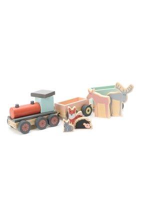 Детского игрушечный поезд с животными KID`S CONCEPT разноцветного цвета, арт. 1000078 | Фото 2