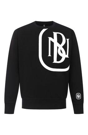 Мужской хлопковый свитшот NEIL BARRETT черного цвета, арт. PBJS654S/P511S | Фото 1