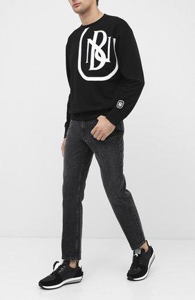 Мужской хлопковый свитшот NEIL BARRETT черного цвета, арт. PBJS654S/P511S | Фото 2