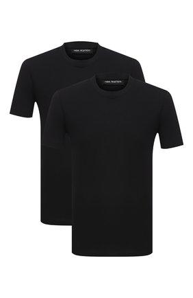 Мужская комплект из двух футболок NEIL BARRETT черного цвета, арт. PBJT588/P582S | Фото 1