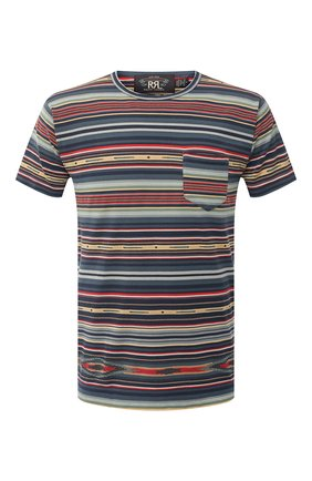 Мужская хлопковая футболка RRL разноцветного цвета, арт. 782775289 | Фото 1
