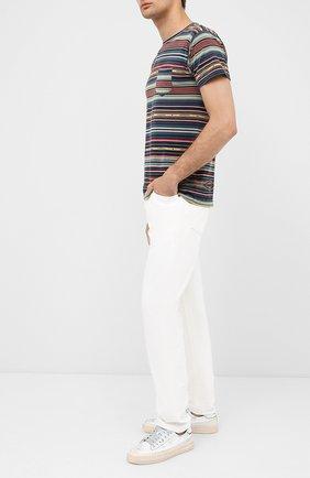 Мужская хлопковая футболка RRL разноцветного цвета, арт. 782775289 | Фото 2