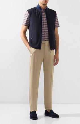 Мужская рубашка изо льна и хлопка LUIGI BORRELLI коричневого цвета, арт. EV08/NAND0 SS/TS9191   Фото 2