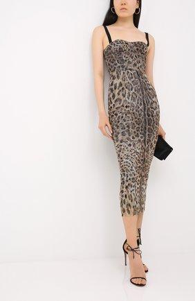 Женское хлопковое платье DOLCE & GABBANA леопардового цвета, арт. F6G6TT/FSEGZ | Фото 2
