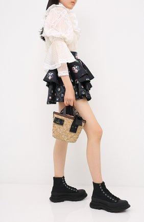 Женская юбка ULYANA SERGEENKO темно-синего цвета, арт. GNC001SS20P (0325р19) | Фото 2