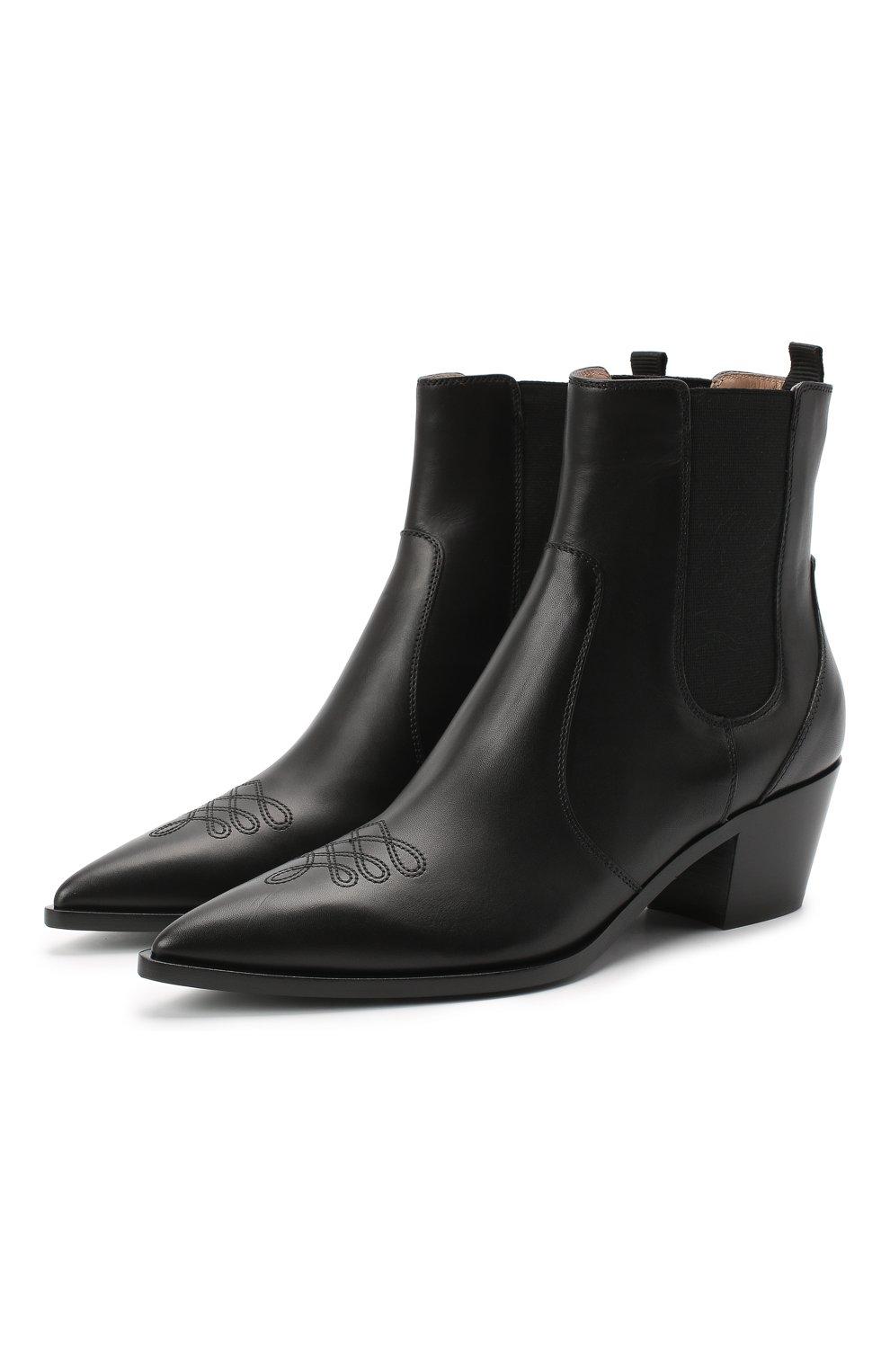Женские кожаные ботинки GIANVITO ROSSI черного цвета, арт. G70343.45CU0.CLNNER0   Фото 1