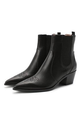 Женские кожаные ботинки GIANVITO ROSSI черного цвета, арт. G70343.45CU0.CLNNER0 | Фото 1