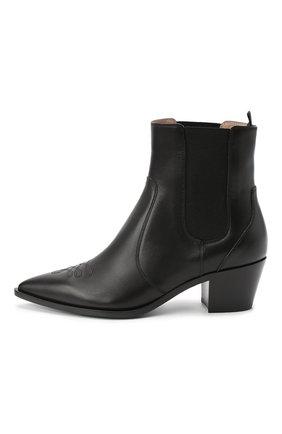 Женские кожаные ботинки GIANVITO ROSSI черного цвета, арт. G70343.45CU0.CLNNER0   Фото 3