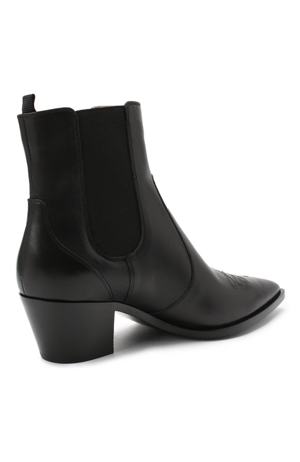 Женские кожаные ботинки GIANVITO ROSSI черного цвета, арт. G70343.45CU0.CLNNER0   Фото 4