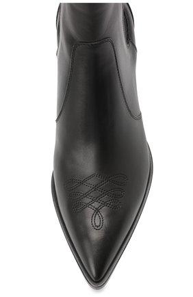 Женские кожаные ботинки GIANVITO ROSSI черного цвета, арт. G70343.45CU0.CLNNER0   Фото 5