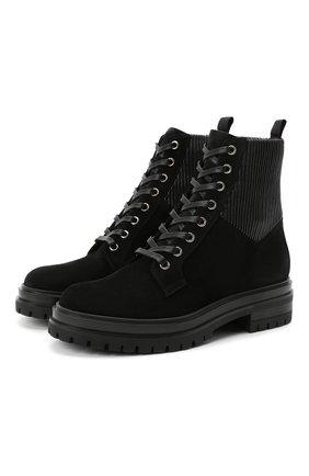 Женские комбинированные ботинки martis GIANVITO ROSSI черного цвета, арт. G73884.20CU0.SESNENE | Фото 1