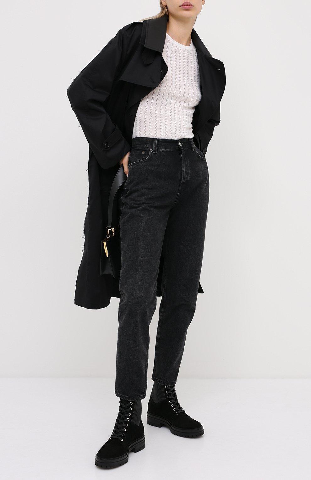 Женские комбинированные ботинки martis GIANVITO ROSSI черного цвета, арт. G73884.20CU0.SESNENE | Фото 2