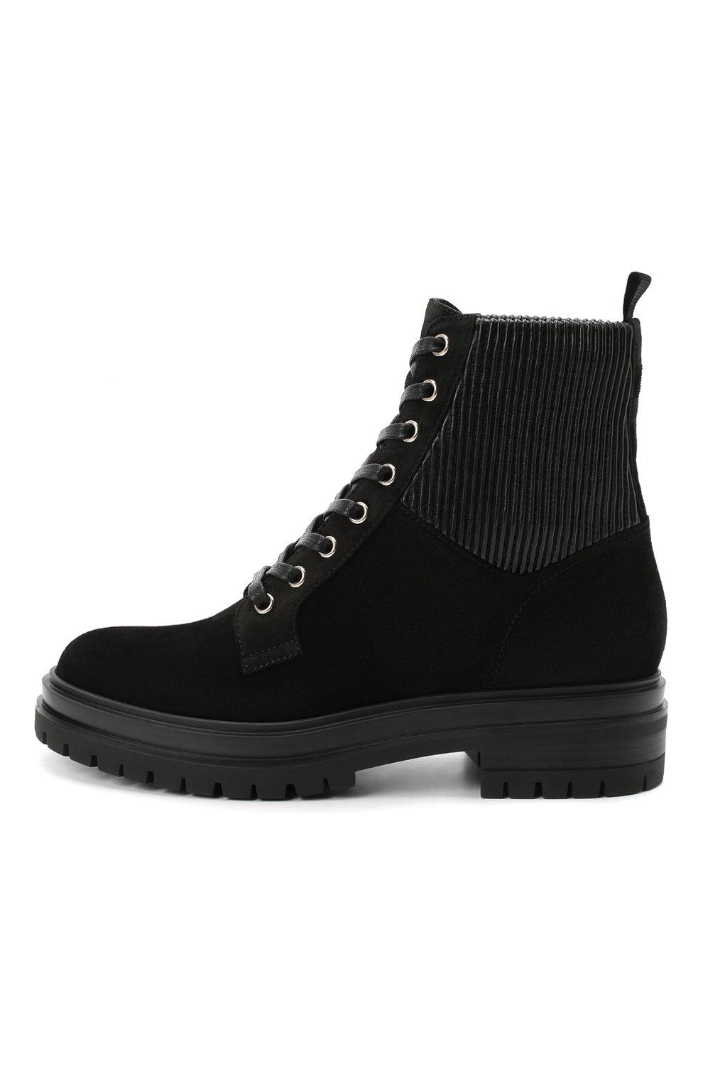 Женские комбинированные ботинки martis GIANVITO ROSSI черного цвета, арт. G73884.20CU0.SESNENE | Фото 3