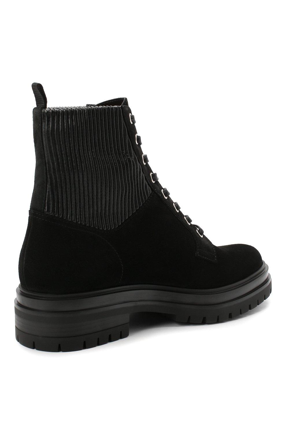 Женские комбинированные ботинки martis GIANVITO ROSSI черного цвета, арт. G73884.20CU0.SESNENE | Фото 4