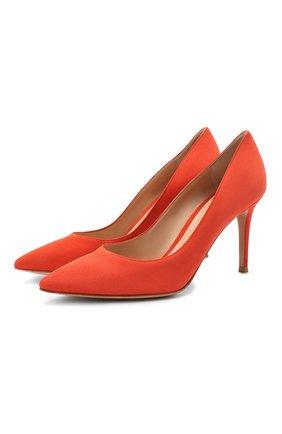 Женская замшевые туфли gianvito 85 GIANVITO ROSSI оранжевого цвета, арт. G24580.85RIC.CAMCHAY | Фото 1