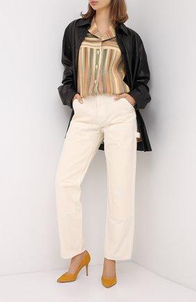 Женская замшевые туфли gianvito 85 GIANVITO ROSSI желтого цвета, арт. G24580.85RIC.CAMGING | Фото 2