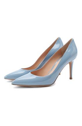 Женская лаковые туфли gianvito 85 GIANVITO ROSSI голубого цвета, арт. G24580.85RIC.VERST0W | Фото 1