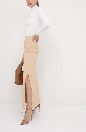Женские кожаные босоножки sharp GIANVITO ROSSI бежевого цвета, арт. G61587.15RIC.NAPPRAL | Фото 2