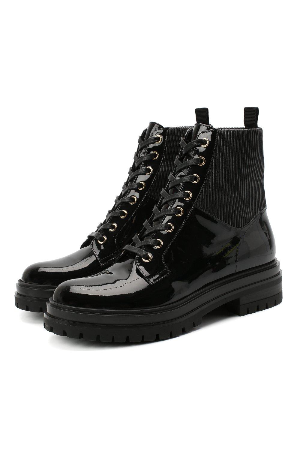 Женские кожаные ботинки martis GIANVITO ROSSI черного цвета, арт. G73884.20CU0.VHENENE | Фото 1