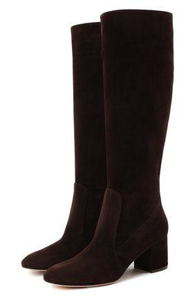 Женские замшевые сапоги daywear GIANVITO ROSSI коричневого цвета, арт. G80401.60RIC.C45W00D | Фото 1